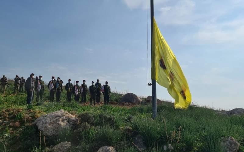 رفع صورتي سليماني والمهندس عند الحدود مقابل مستعمرة المطلة