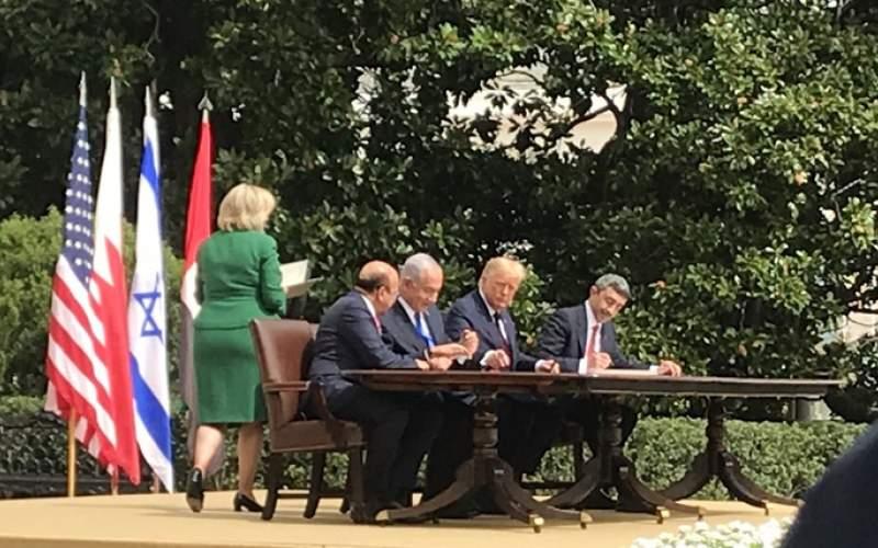 توقيع اتفاق التطبيع  بين الإمارات والبحرين و