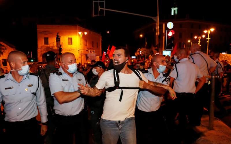 مواجهات بين الشرطة الإسرائيلية ومتظاهرين مناهضين لنتنياهو